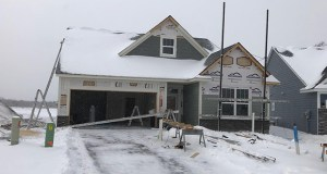 Capstone Homes says it's finding a strong market for its villa products, including this home under construction in Otsego. (Submitted photo: Capstone Homes)