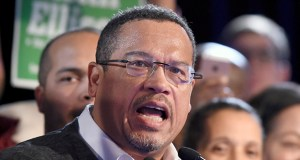 In this Nov. 6, 2018, file photo, Minnesota Attorney General Keith Ellison speaks during the election night event in St. Paul, Minn. (AP Photo/Hannah Foslien, File)