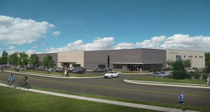 A logistics center Minnetonka-based Opus Group built at 955 Wells St. in St. Paul was attractive enough to draw the attention of the Blackstone Group. (Submitted illustration: Opus Group)