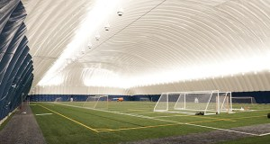 Brooklyn Park's new sports dome, built in partnership with Osseo Area Schools, encloses two turf playing fields. (Submitted photo: City of Brooklyn Park)