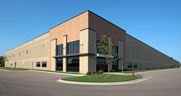 Toronto-based WPT Industrial REIT purchased this Lakeville warehouse at 9150 217th St. W. for $23.5 million. (Submitted Photo: CoStar)