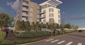 Developer Patrick Crowe is proposing this 79-unit apartment building at 4900 Cedar Lake Road, 4905 Cedar Lake Road and 5005 Old Cedar Lake Road in St. Louis Park. (Submitted rendering)
