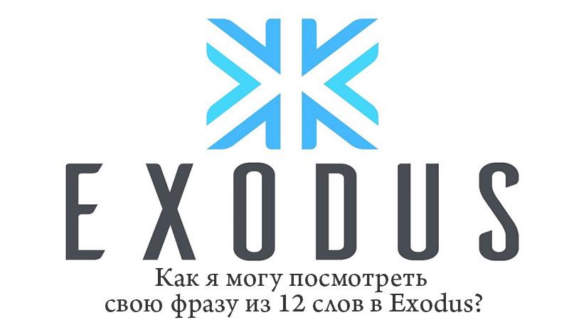 Как я могу посмотреть свою фразу из 12 слов в Exodus?