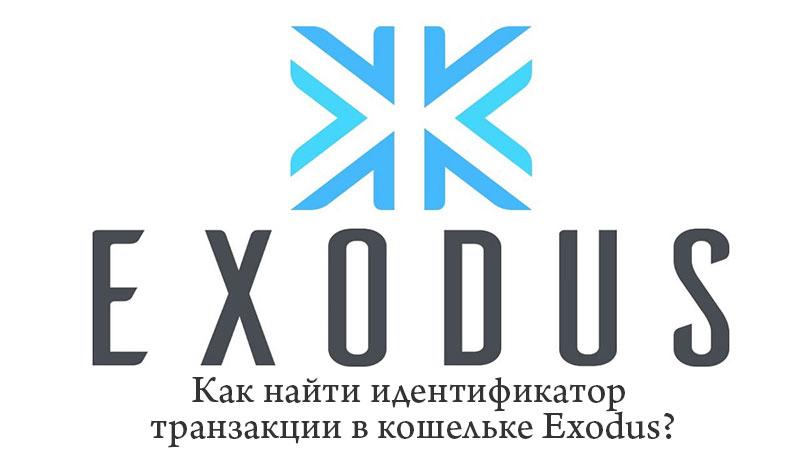 Как найти идентификатор транзакции в кошельке Exodus?