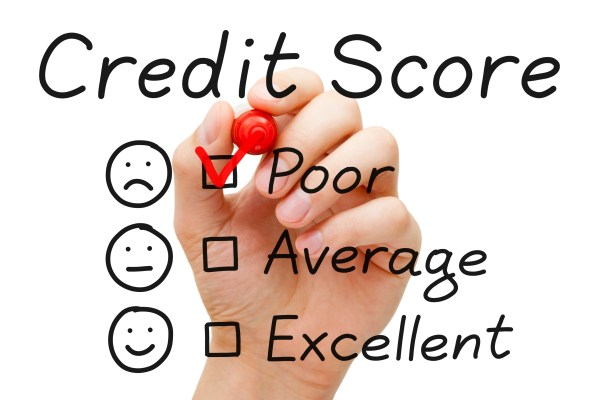 Bad Credit is when you have low credit score.
