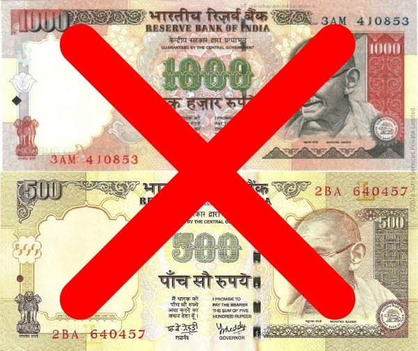 Indian Govt. banned INR 500 and INR 1000 notes from 8th Nov, 2016.