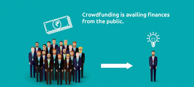 Crowdfunding is availing finance from the public for your business.