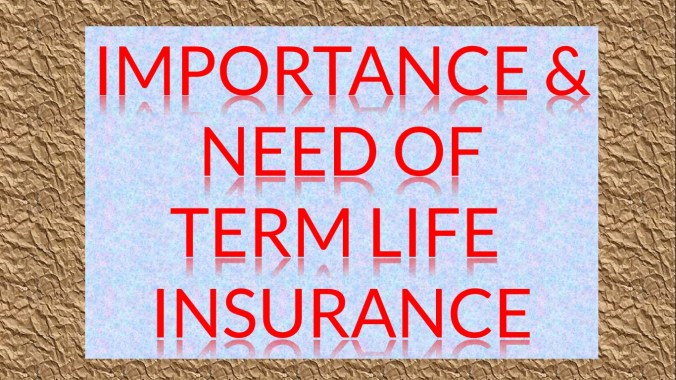 What is the need for a Term Insurance?
