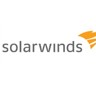 Logo of American IT company SolarWinds subject to cyberattack and the share price falls