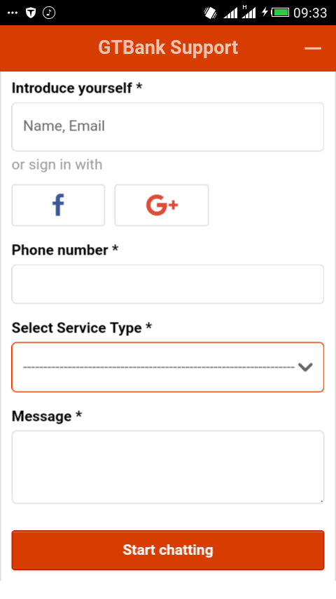 GTBank Customer Care Contacts details 1