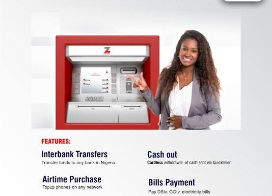 Zenith Bank cardless withdrawal