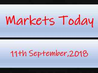 Markets Today - 11th September,2018