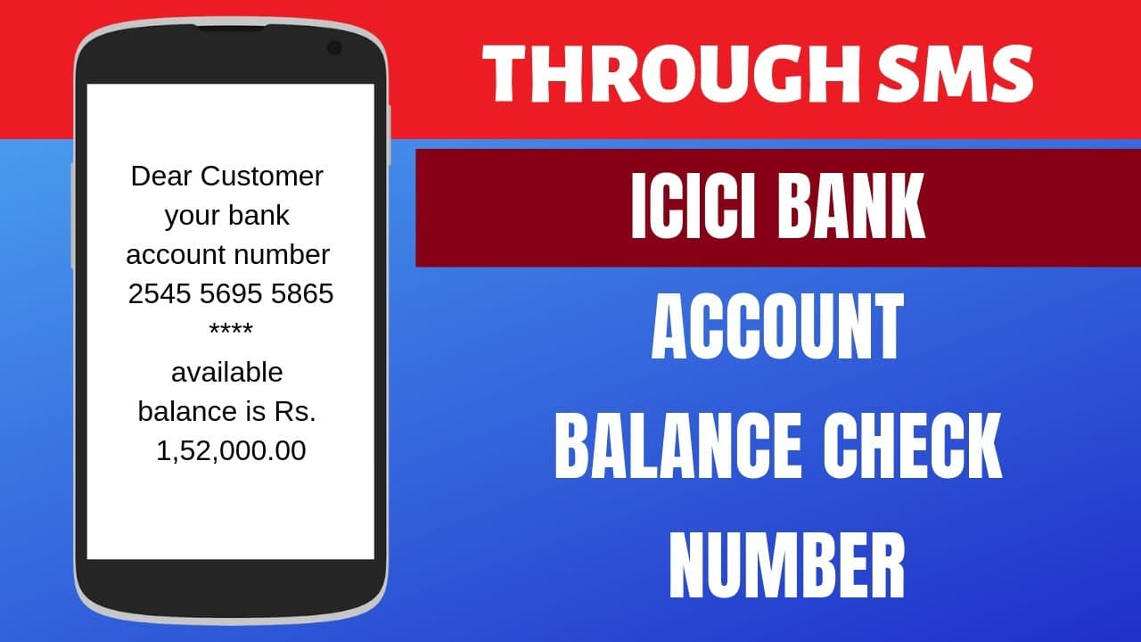 How To Check Icici Bank Account Balance By Sms Call Netbanking
