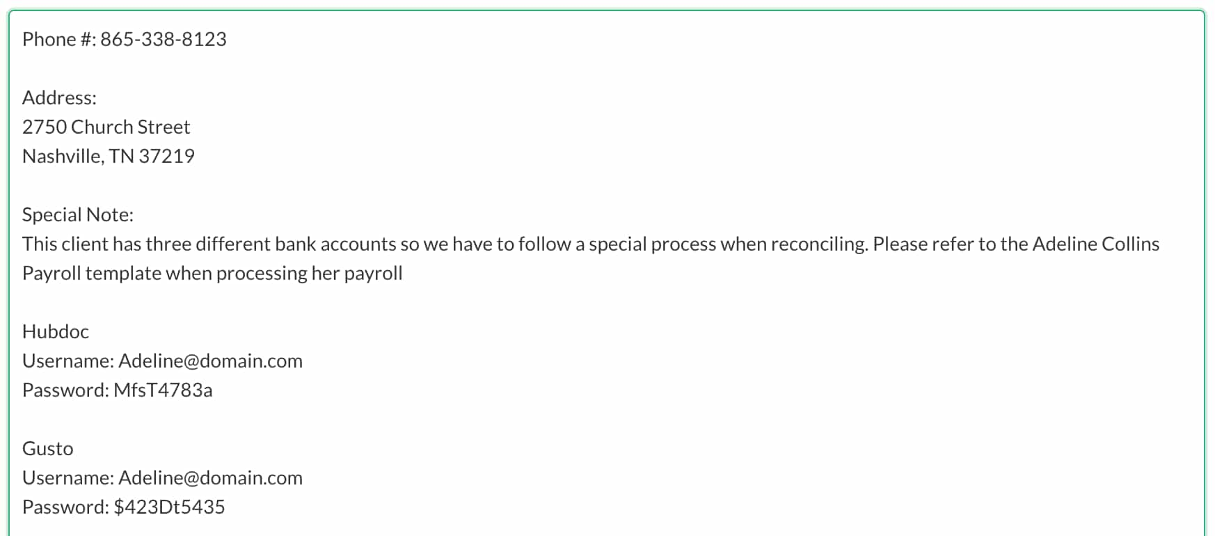 Accounting CRM