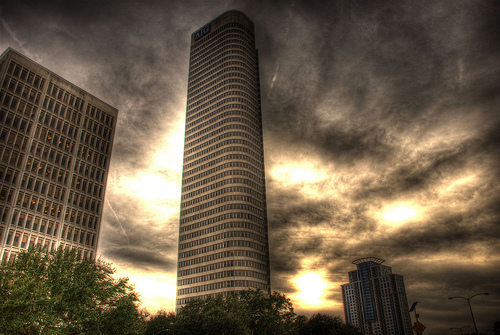 """AIG building........ close to downtown houston"" by Dredrk. aka Mr Sky's"