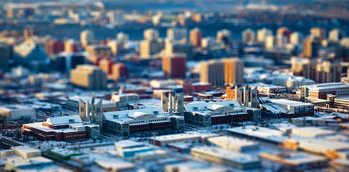 "Grant MacEwan University ""Tilt-Shifted"" Photo (Edmonton, Alberta)"
