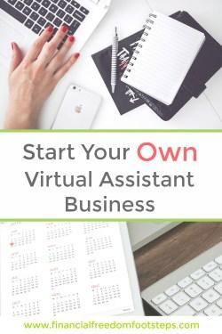 Start Your Own VA Side Hustle Business - Financial Freedom Footsteps.com