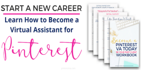 Start a new career as a Pinterest VA - easy to follow course to start the business of your dreams!