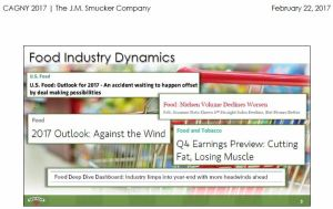 SJM - Food Industry Dynamics Feb 22 2017 presentation