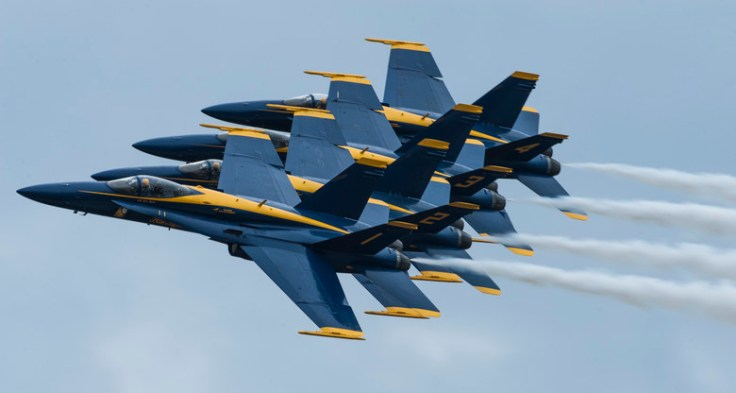 Financial Glass - Blue Angels Formation