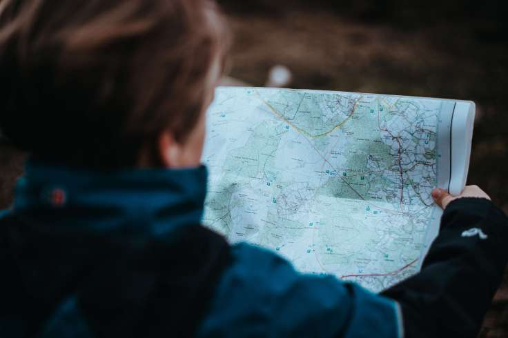 Man journey mapping with milestones