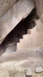 """The sculpted stone at the entrance to the """"Royal Tomb."""""""