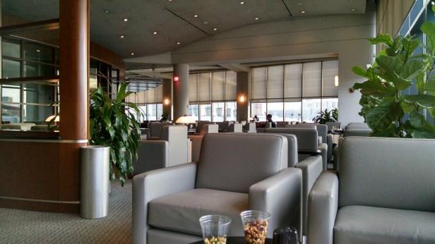 Admirals Lounge in Boston, thanks to the Citi AAdvantage Executive card.