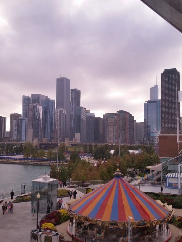 View of Chicago from Navy Pier.