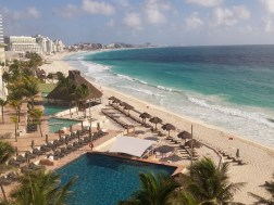 View from the Westin Cancun, SPG points!