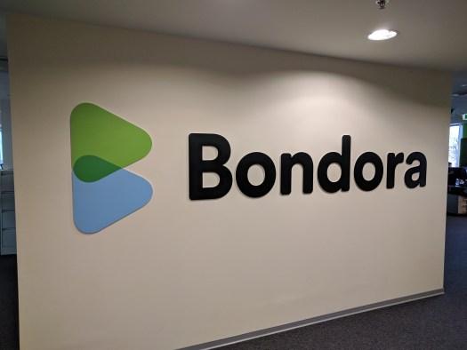 Bondora logo wall