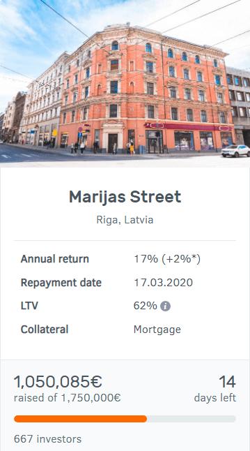 Bulkestate Marijas Street project