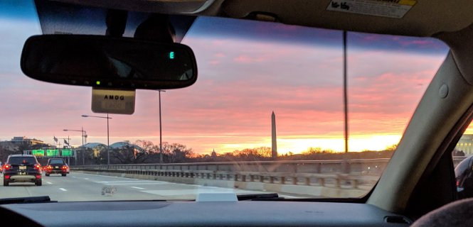 A morning sunrise in DC