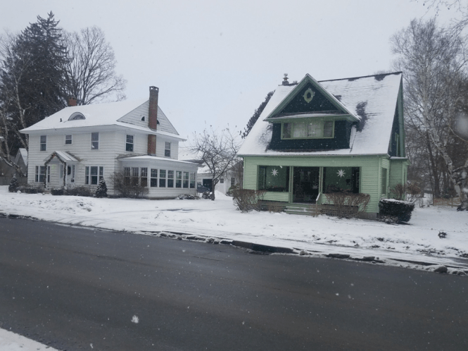 Houses in rural NY