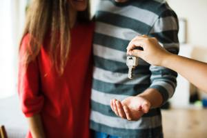 Keys are offered to a couple