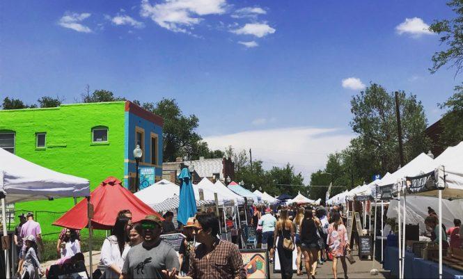 the farmers market on Pearl Street, in denver