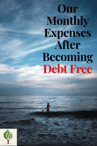 Our Monthly Expenses After Becoming Debt Free