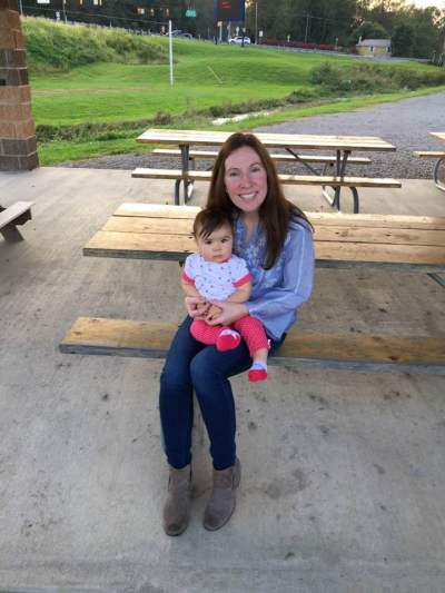 Photo of Kate from Financial Independence for Teachers along with her daughter.