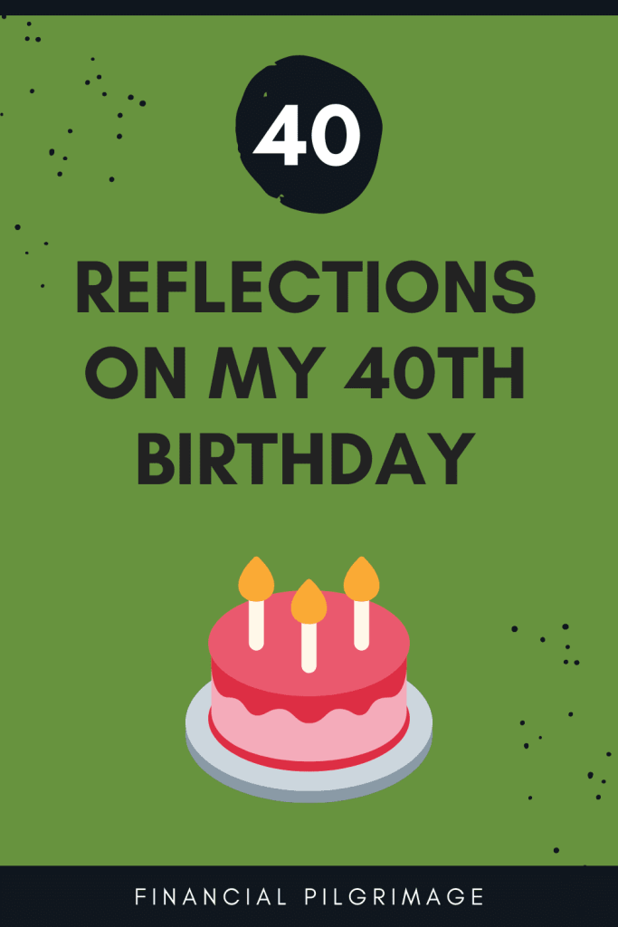 Pinterest Image about 40th birthday
