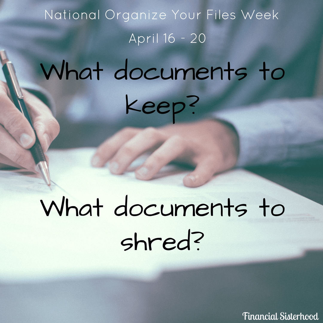 Organize Your Files Week What Documents To Keep