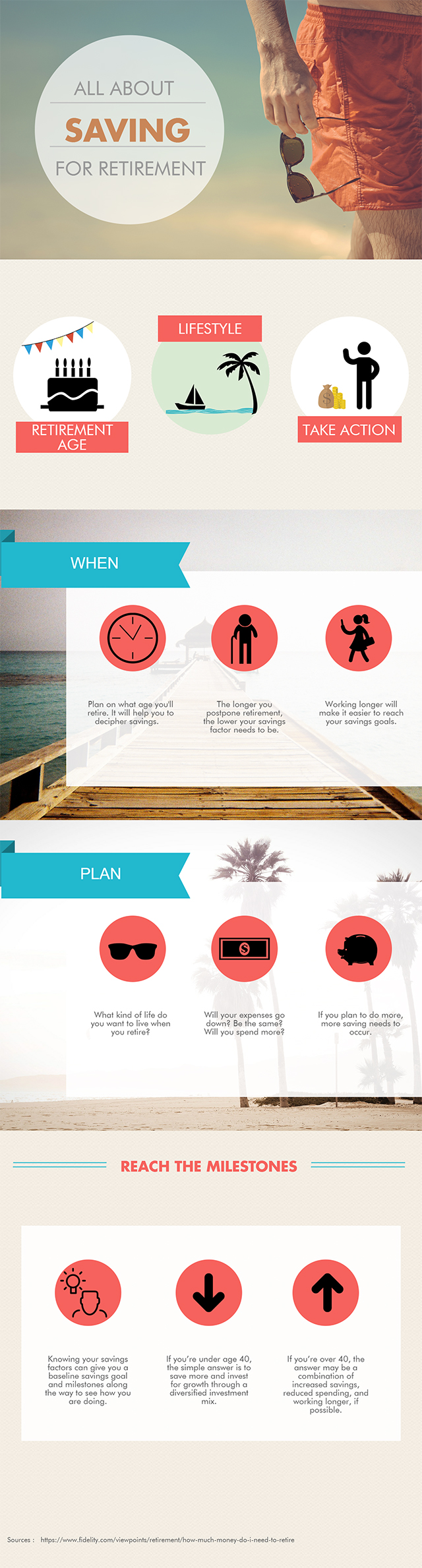 easy ways to save for retirement - infographic