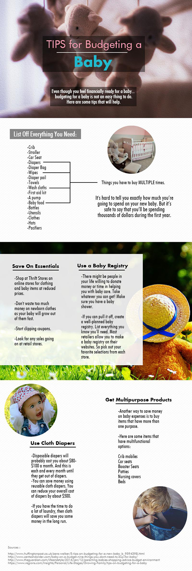 Budgeting A Baby - Infographic