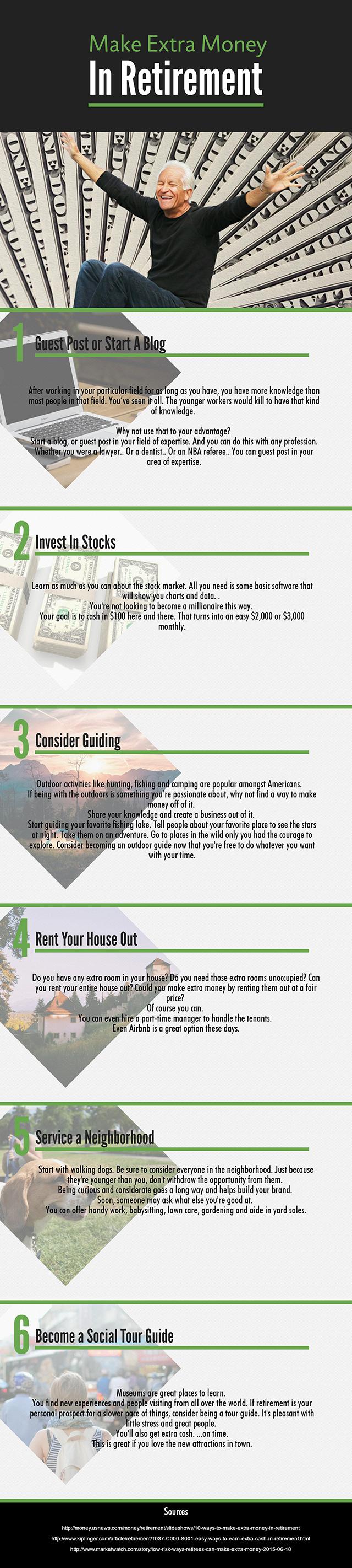 Mak Extra Money In Retirement - Infographic