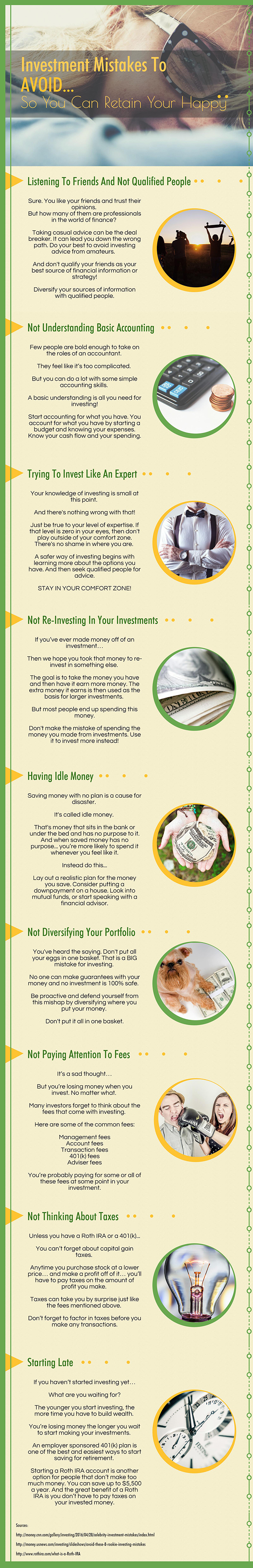 Investment Mistakes To Avoid-Infographic