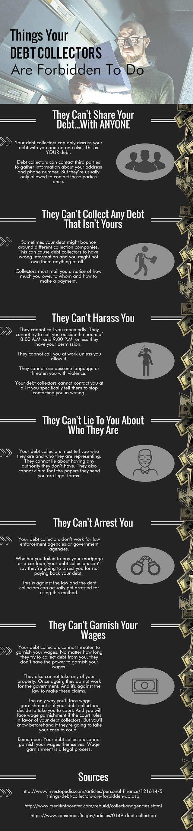 Things Your Debt Collectors Are Forbidden To Do - Infographic 3