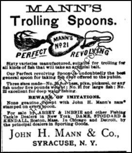 John Man Trolling Spoons Ad 1883