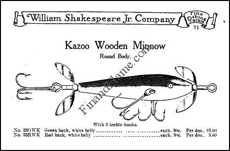 Shakespeare Kazoo Minnow Lure Ad