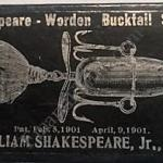 Shakespeare Worden Bucktail Black Lure Box