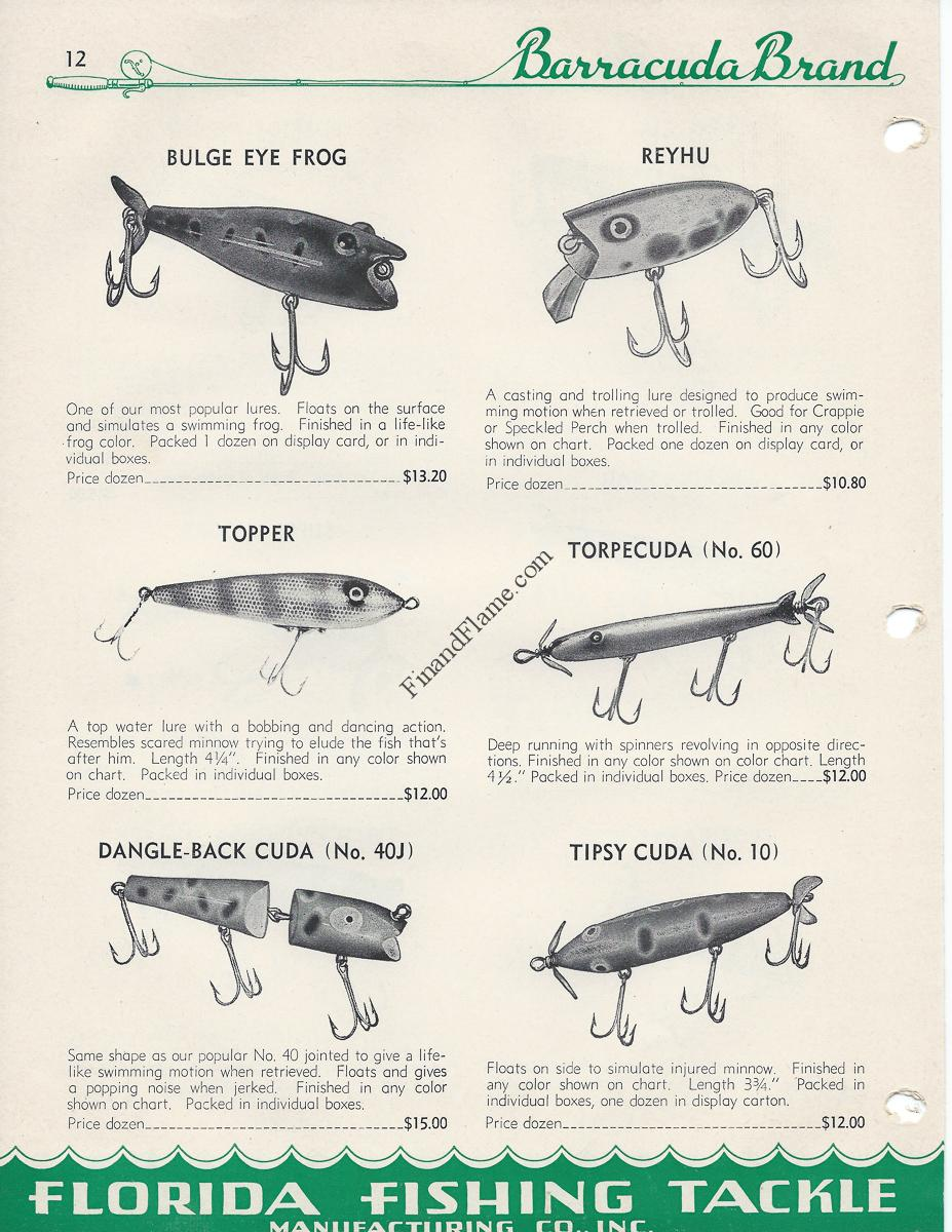Barracuda Brand Antique Lure Line Up