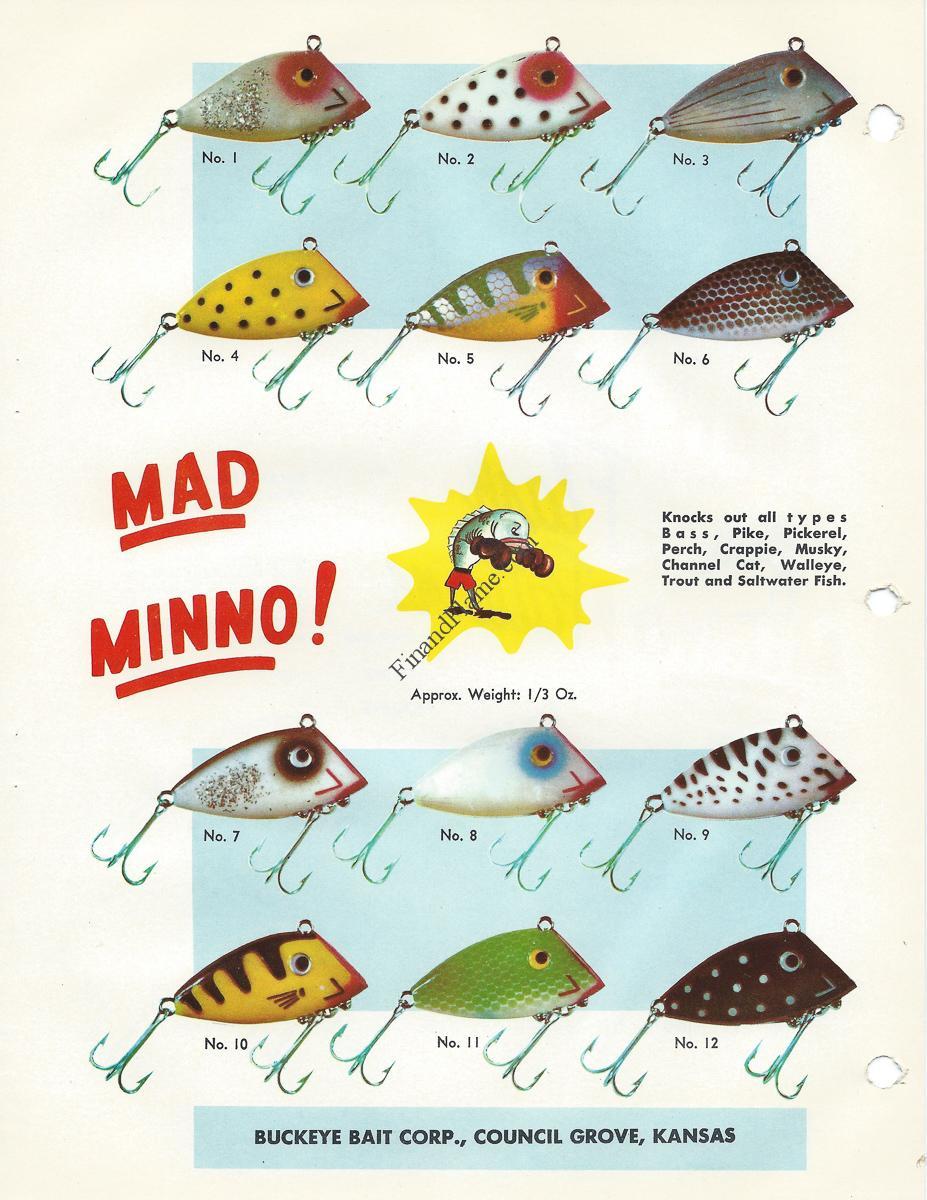 Buckeye Bait Mad Minno Lure Color Guide