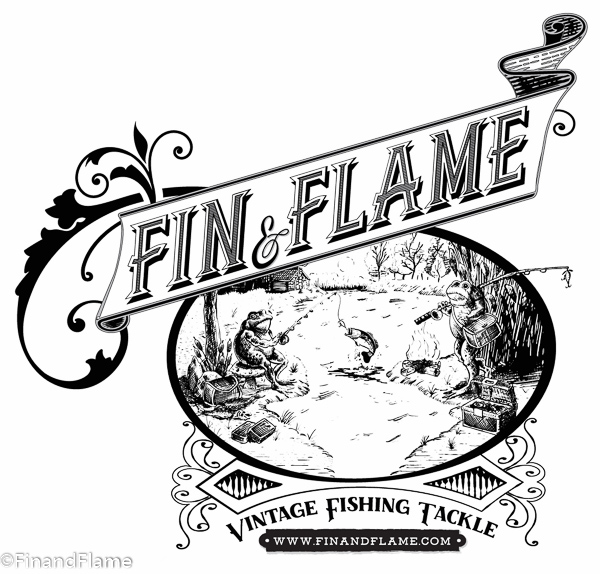 Antique Lure Fin and Flame